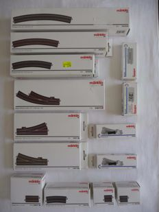 Märklin H0 - 24611/-12/-72/-530/-230/-15/-06/-107/-077/-977/-97/74490 - 48-piece batch C-rails and switches