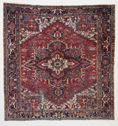 Persian rug, unusual Heriz, square, 255 x 265 cm.