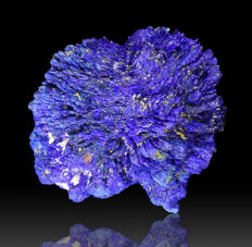 """Rare large Azurite crystal """"floater"""" - 2.1 × 1.8 × 1.3 cm  - 4.9 gm"""