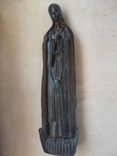Hand-carved wooden Saint statue Nicely detailed