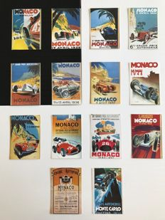 Grand Prix of Monaco - Lot of 14 original postcards - around 1970