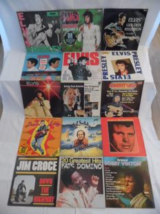Nice lot of 15 Albums  - 7 from Elvis Presley & 8 from his Rock & Roll friends - Total 16 Records - u.o. Jerry Lee Lewis - Johnny Cash - Duane Eddy -
