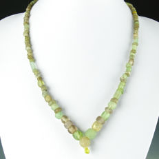 Necklace with semi-translucent Roman glass beads - 52 cm