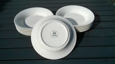 Arabia Illusia Finland, eleven pasta dishes/soup dishes in new condition