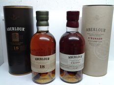 2 bottles - Aberlour a'bunadh Batch 47 & Aberlour 18 years old.