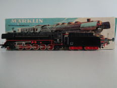 Märklin H0 - 3047 - Steam locomotive / freight train locomotive BR 44 of the DB, with smoke generator and 'Telex' coupling