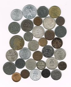 Germany, Danzig - 33 Various Coins, incl. Silver Ones, Notgeld