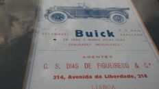 Super set: 91 years old advertising BUICK. BUICK logo.Calendar year 1926/27+old DODGE ad-double sided. DODGE logo. Edition -Lisbon,Portugal,
