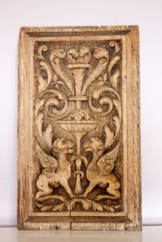 Oak wooden panel - Italy - 18th century