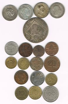 Austria, Germany, Danzig - Various Coins, incl. Silver Ones