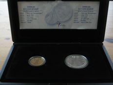 The Netherlands - lot of 2 x 10 Euro coins - 2002 - wedding coins - gold and silver