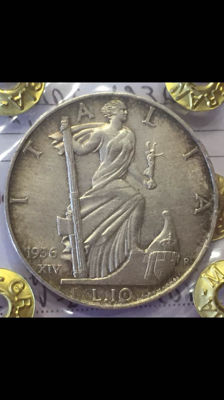 Kingdom of Italy – 10 Lira coin, 1936 – 'Empire' – Vittorio Emanuele III – Silver.