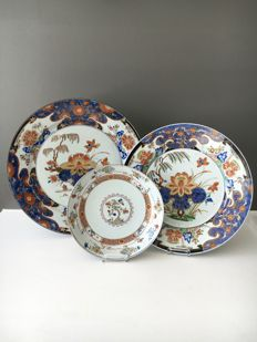 Famille verte or polychrome plates - China - ca. 1700 ( Kangxi period )