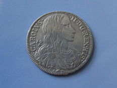 Kingdom of Naples – Tarì 1689, Carlo II – Silver