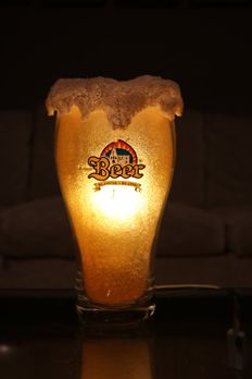 Lamp in the shape of a big beer glass - Circa 1990