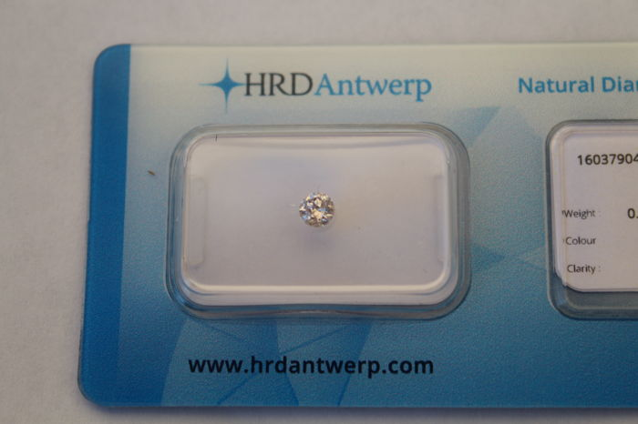 0.19 ct Fancy Light Pink diamond, natural colour