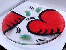 Ulrica Hydmann-Vallien for Kosta Boda – glass bowl with hearts