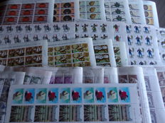 Spain 1976/1994 – Set of sheets in series – Edifil 2356–8, 2375–7, 2379–80, 2381–5, 3029–34, 3079–82, 3283–6