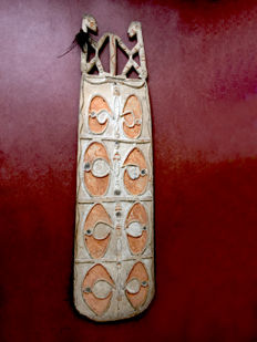 Wooden ancestors spirit panel - Asmat - West-Papua