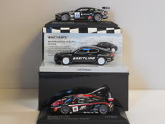 Minichamps - Scale 1/43 - Lot with 3 Britse sports car models: Aston Martin, Bentley & McLaren