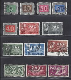 Switzerland 1945 – PAX – Michel 447/459.