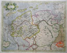 Northern Holland; Gerard Mercator / Jodocus en Henricus Hondius - Frisia Occidentalis - ca 1630.