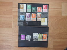 1928 German Empire/Reich selection Mi. no. 411 - 422 edge pieces, corner pieces