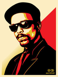 Shepard Fairey (OBEY) - Ice T (red)