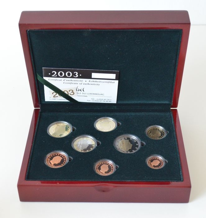 Luxembourg - Proofset 2003 in a luxurious edition