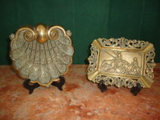 2 Very Well Carved Ashtrays - C.a 1960