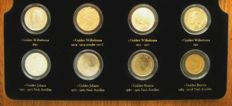 """Netherlands and Overseas – Coin set """"The Era of the Guilder 1892/1994, Wilhelmina, Juliana and Beatrix"""" (8 different coins) – silver"""