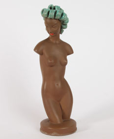 Goldscheider - Female nude terracotta pottery figure