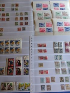 Spain 1936/1939 Civil War – lot with patriotic and local stamps