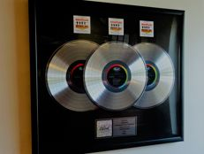 The Beatles Platinum (3x) Capitol Records In-house Award for HELP!