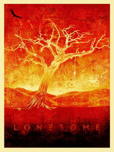 Shepard Fairey (OBEY) - Lonesome (white)