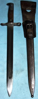 Bayonet for Schmidt-Rubin M1889, Switzerland, 1st model in very good condition with leather frog S.I.G.  20th century