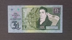 Guernsey - 3 x 1 pound, 2 x 5 pounds and 1 x 10 pounds