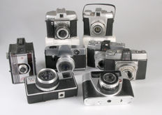 8 simple cameras (Kodak, Agfa, Ricoh, Regula etc.)
