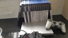 Sony PlayStation 2 with 16 games like Grand Turismo 4, Need for Speed Carbon, Lego Star wars and more