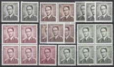 Belgium – King Boudewijn with Glasses – OBP nos. 1069A (6,50F), 1070 (7,50F), 1072 (8,50F) and 1073 (9F)