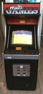 Vintage arcade shooting game video game