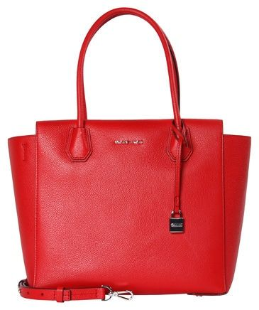michael kors mercer lg satchel bright tasche in rot. Black Bedroom Furniture Sets. Home Design Ideas