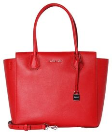 Michael Kors - Mercer LG satchel, bright red bag