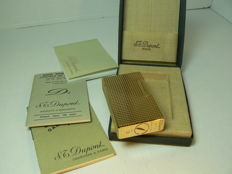 Dunhill lighter gold plated 20µ (line points diamant)