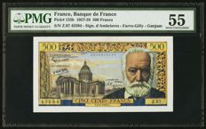 France - 500 francs 6.2.1958 - Pick 133b - Fayette 35.8
