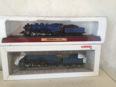 Märklin H0 - 33183 - Steam locomotive with tender, S 3/6 of the K. Bay.Sts.B., and a stand model