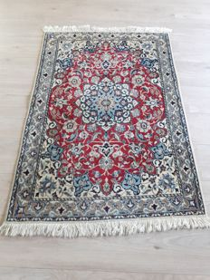 Very Beautiful Hand-knotted Silk Persian - Nain 85cm x 124cm