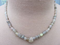 Roman Empire- Necklace with transparent iridescent glass beads - 44 cm.