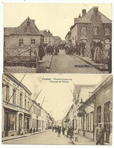 Lot consisting of 86 postcards of Belgian cities and villages
