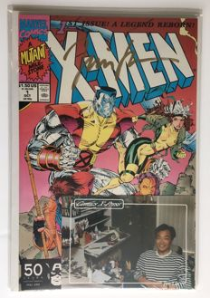 Marvel Comics - X-men #1 - Rare Signed Variant - Signed By Jim Lee - 1x SC - 1st Print - (1991)